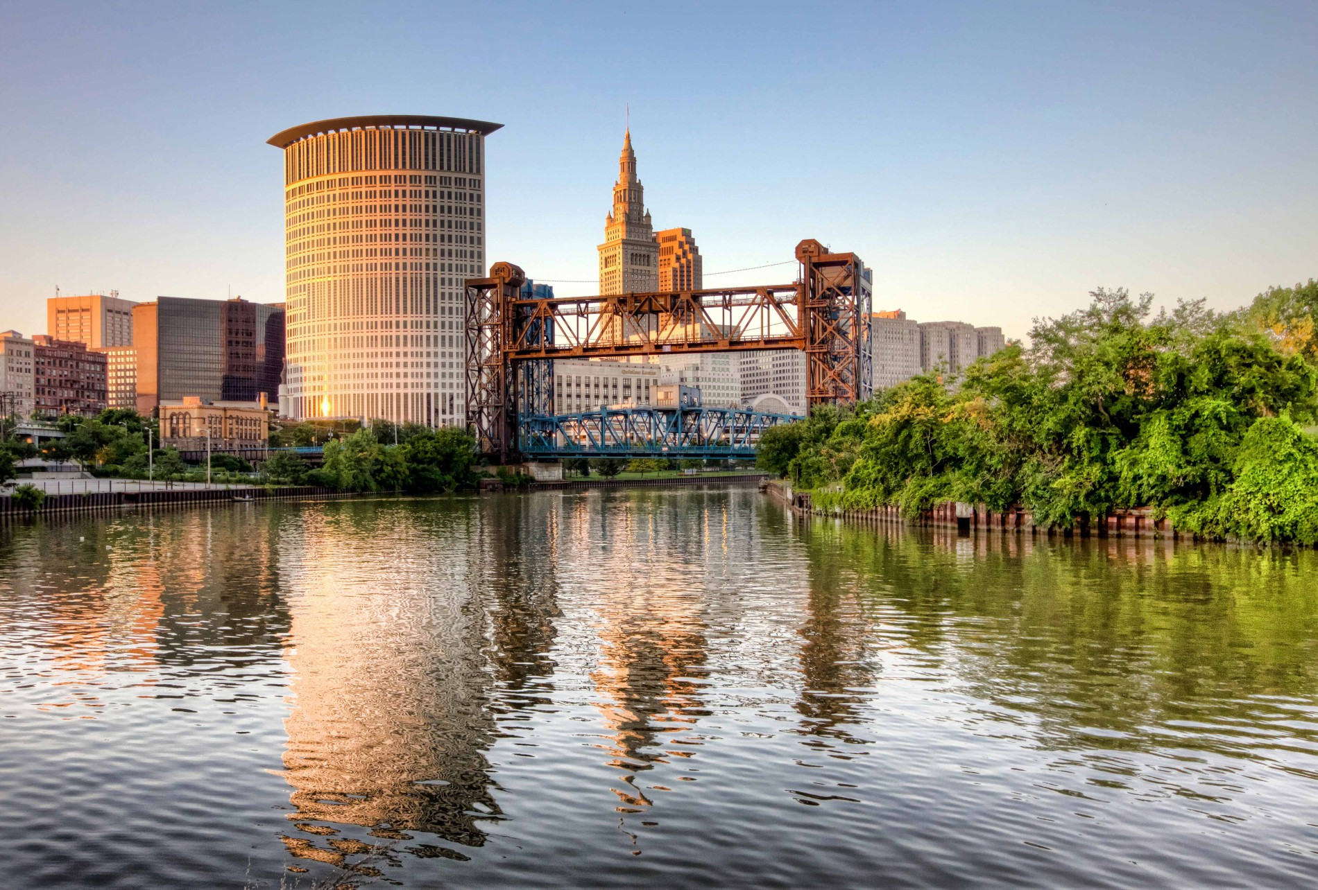 cuyahoga river in cleveland