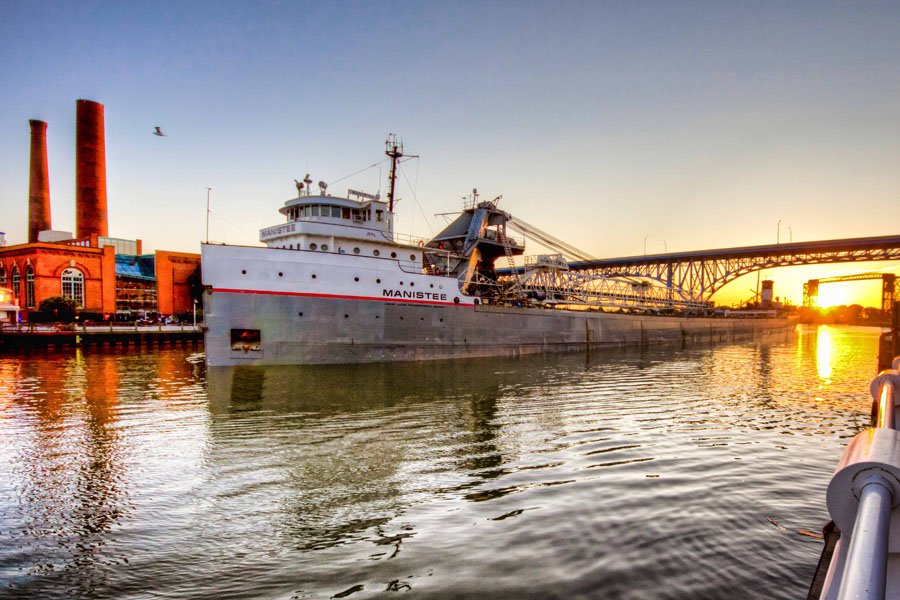 boat ore shipping Cuyahoga River