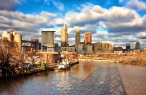 best cleveland skyline pano Print