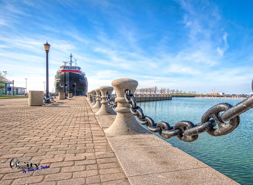 Cleveland North Coast Harbor Skyline