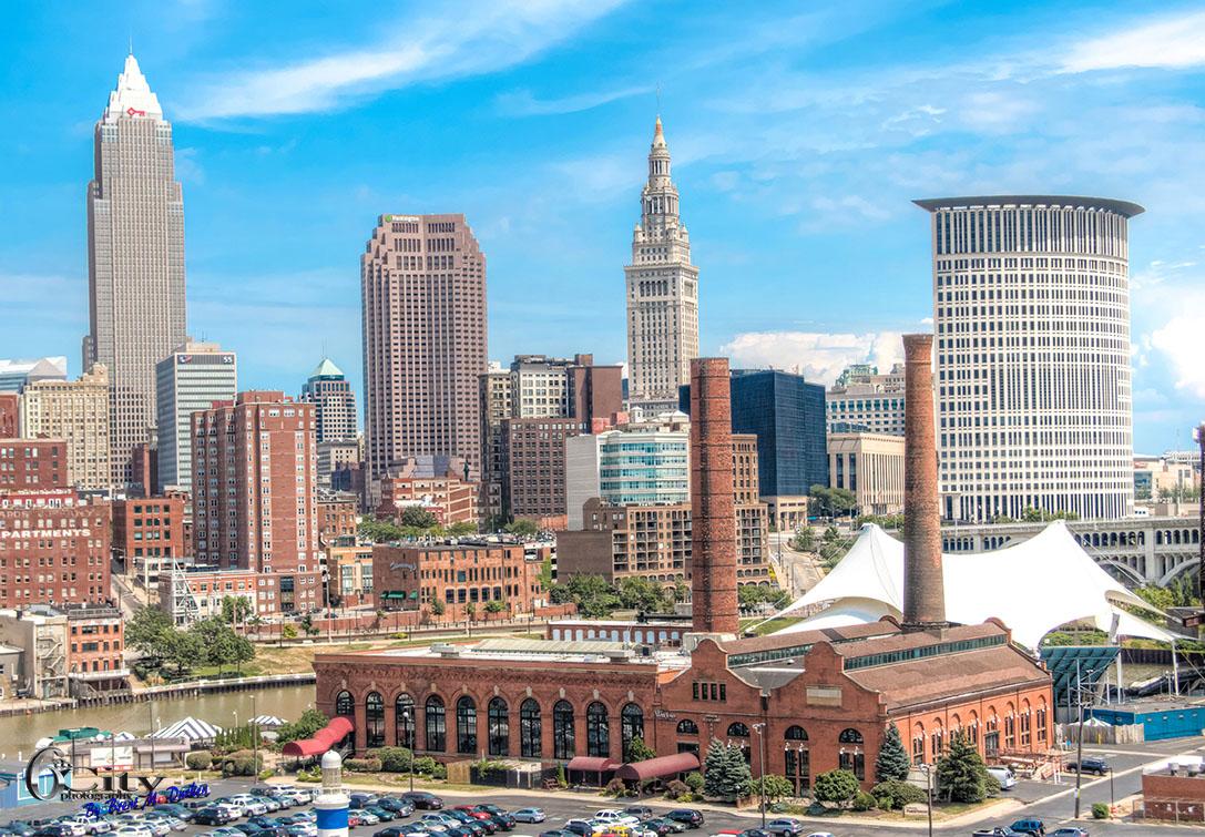 Cleveland Skyline Framed Prints Cleveland In Hdr The